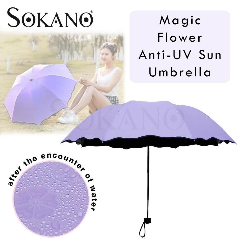 SOKANO Magic Flower Umbrella Anti-UV Sun Rain Payung Bunga Magik (Big Size 95cm)