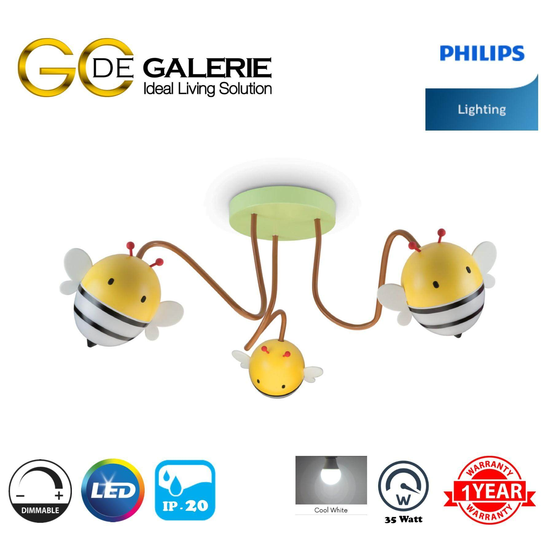 PENDANT LAMP LED PHILIPS KIDS 77506 BEE SEMIFLUSH 21W DIMMABLE