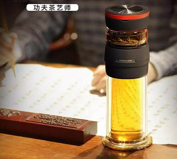 4Leaftea 450mL Xover Portable Tea Steeping Tumbler Water Bottle