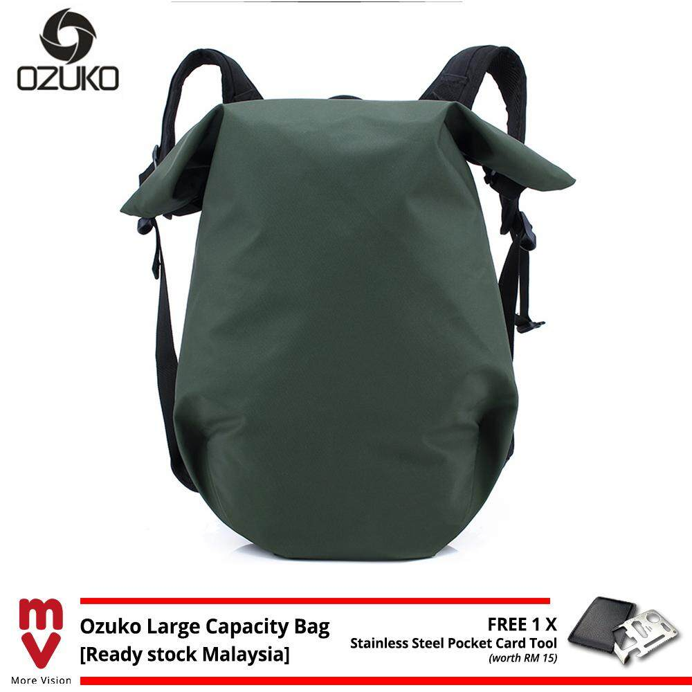 OZUKO Backpack Breathable Large Capacity Laptop Bag School Beg Men 15.6 Waterproof Travel Bagpack MI5012