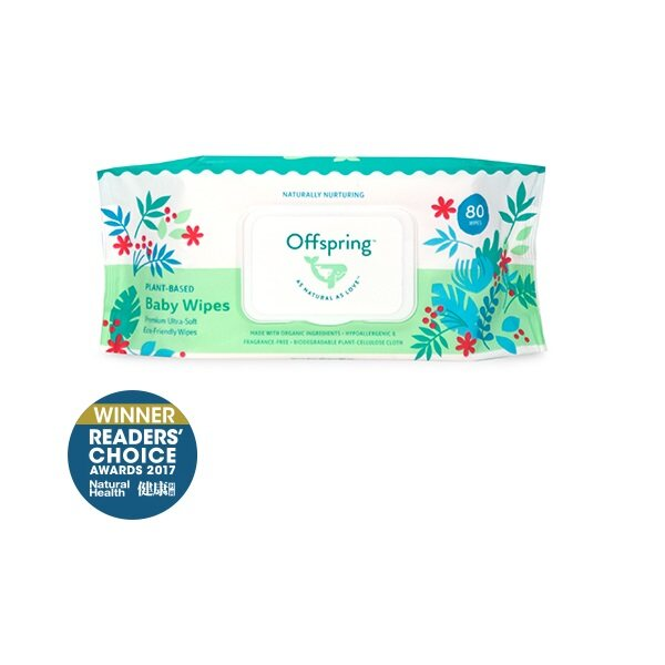 Offspring Natural Baby Wipes Premium Ultra-Soft Friendly 40ct - 80ct