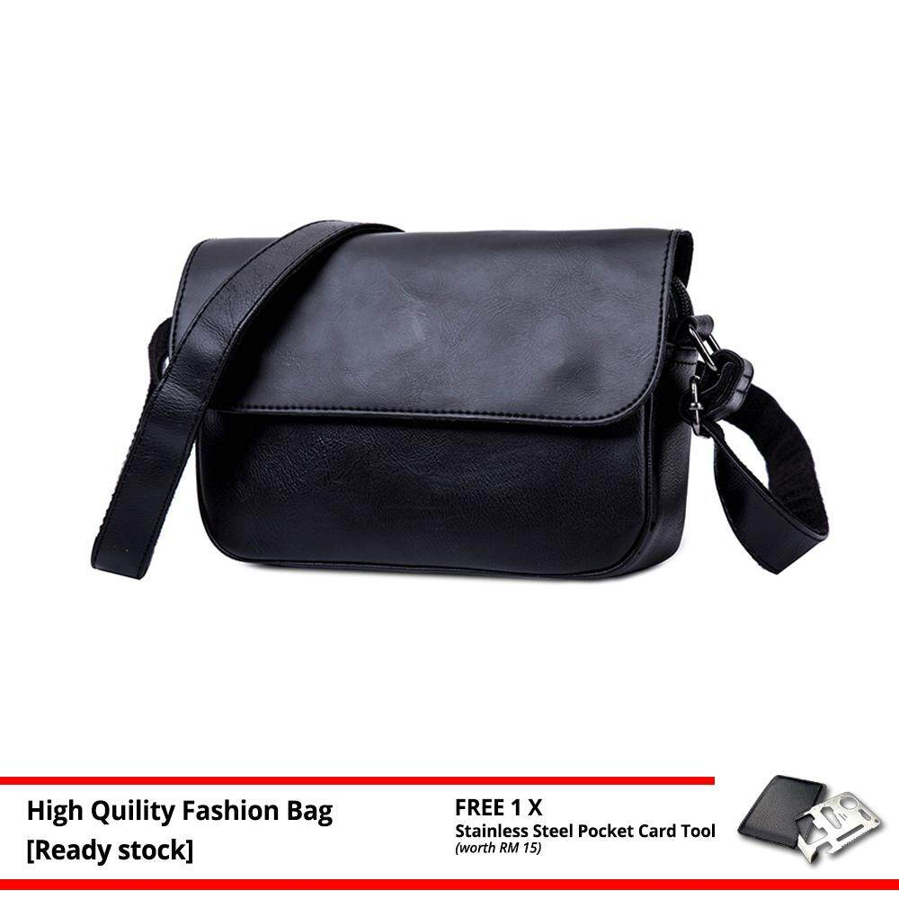 MV Bag Trendy Retro Men PU Leather Cross Body Beg Business Messenger Sling Bags MI4831