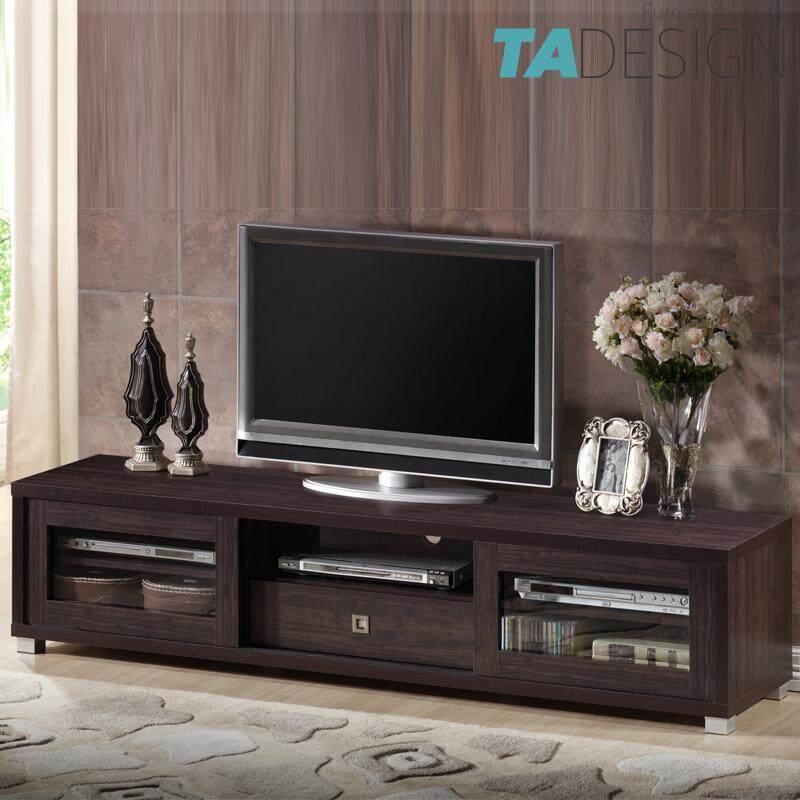 TAD LYNDA 6 feet TV cabinet 6ft with glass door-Wenge