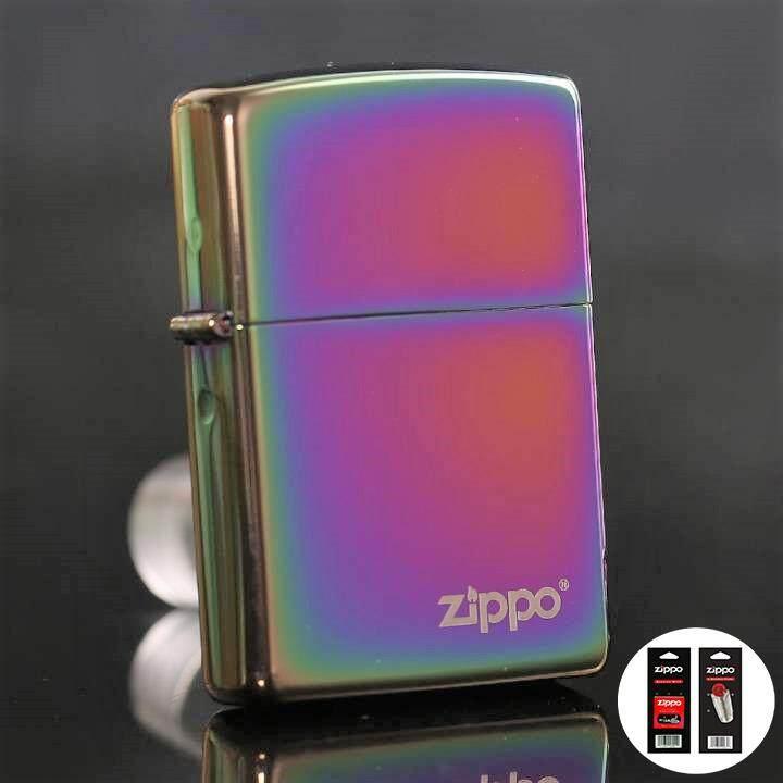 Multi Color Zippo Logo 151ZL Zippo Lighter - Free Zippo Flints & Wick