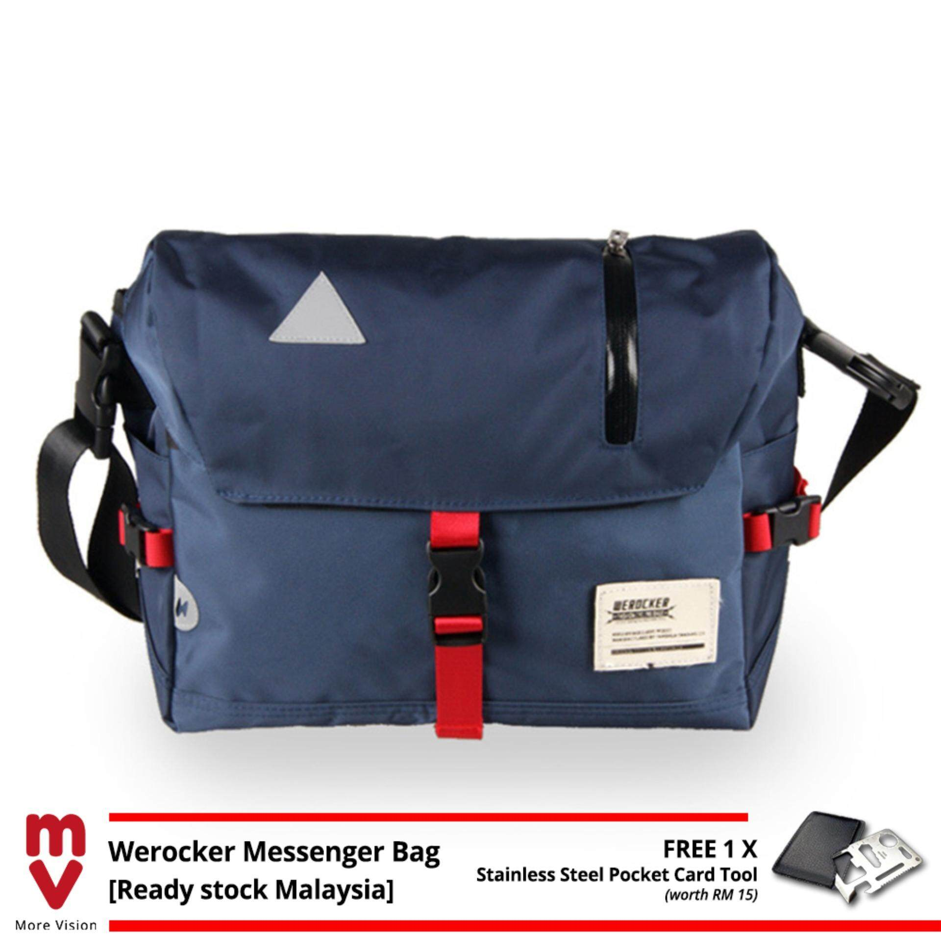 WEROCKER Flash Messenger Sling Bag Shoulder Outdoor Casual Backpack Sports MV Bag +Free Gift MI0892