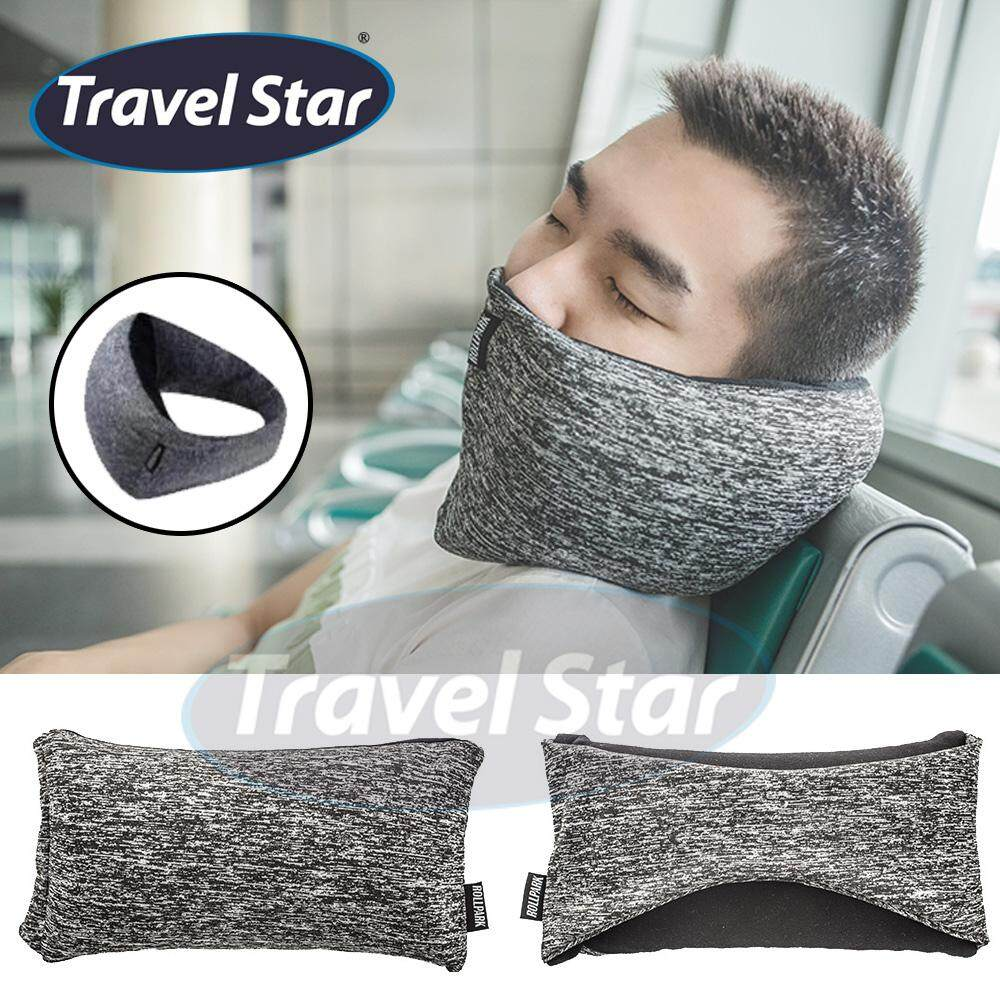 Travel Star TP003 2 in 1 Lightweight Easy Carrying Unique Neck Support Pillow With Mask