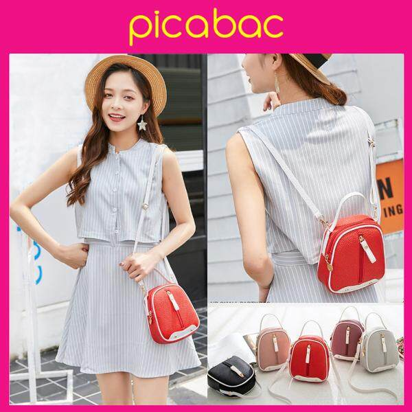 Picabac PU Leather Top Handle Small Crossbody Sling bag- Shoulder Women MIni Backpack PACHB-BM0003