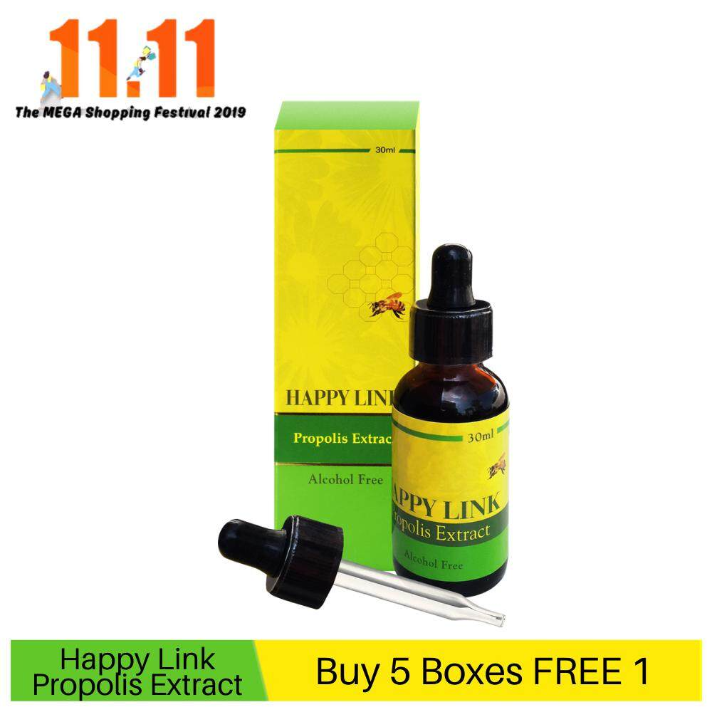Happy Link Propolis Extract - Alcohol Free (30ml) - BUY 5 FREE 1