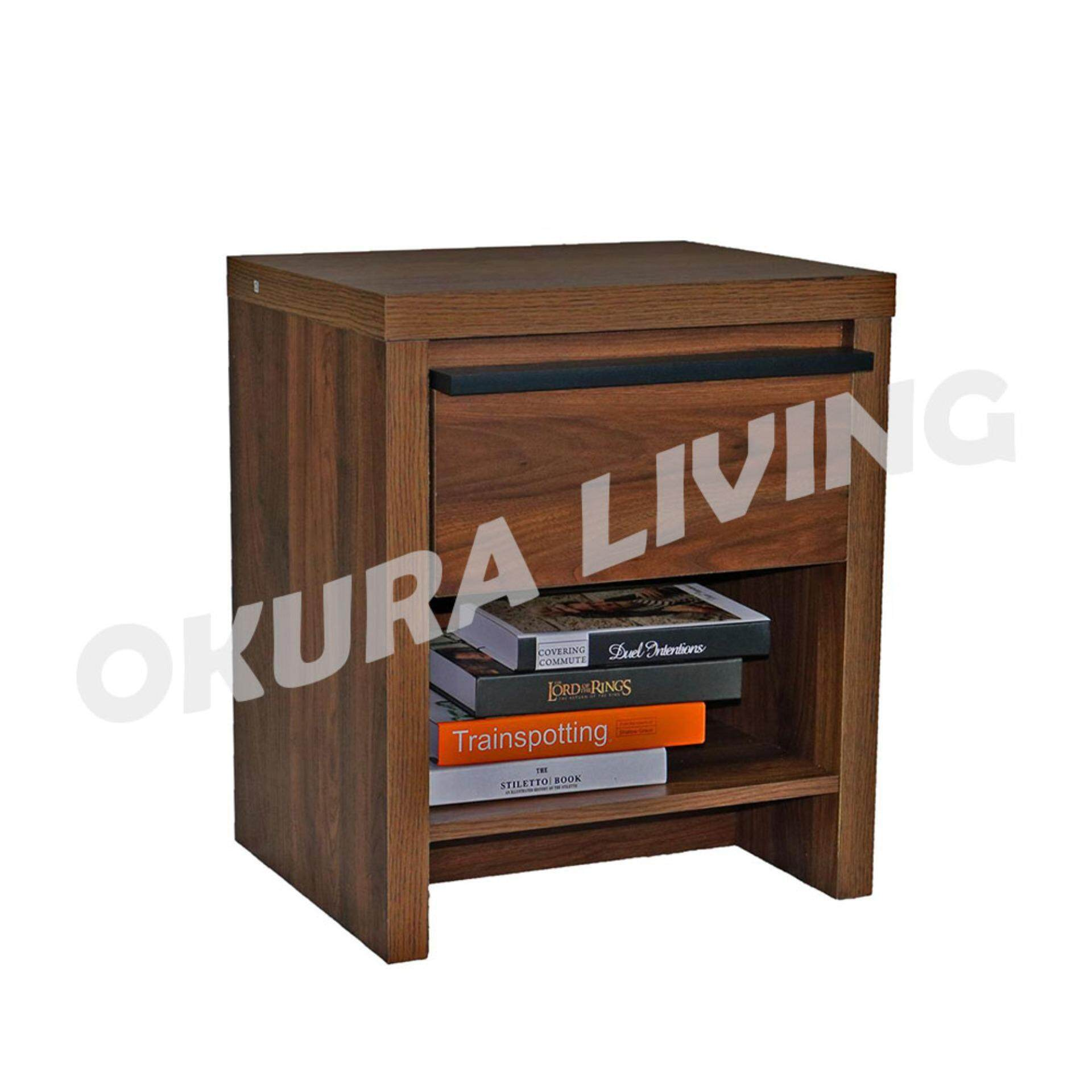 Okura Side Table / Cabinet with Drawer Home Living / Office Furniture