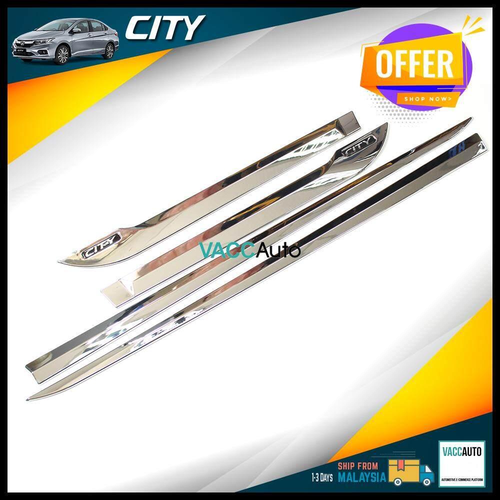 Honda City 2014-2019 Door Moulding Chrome