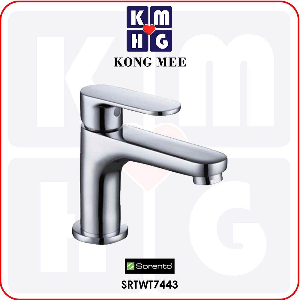 Sorento Italy - Carter 9100 Series Basin Cold Tap (Toilet Sink Faucet) (SRTWT9105) Cold Only High Quality Aesthetic Modern Luxury Home Bathroom Washroom Bathtub Toilet Wash Hand Wash Face Water Soap Pipe Plumbing Fixtures