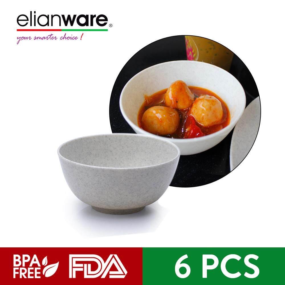 "Elianware 4.5"" Marble Dining Bowl (6 Pcs Set) Small Soup Mangkuk Bowl"