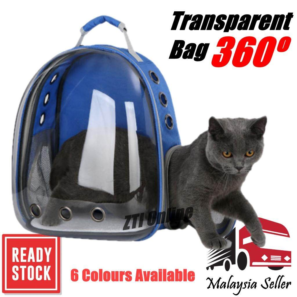 Transparent Astronaut Pet Dog Cat Carrier Bag Backpack Beg Kucing