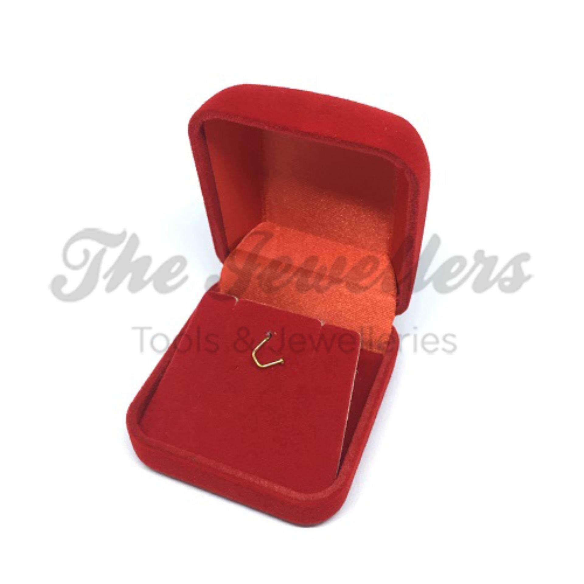 Red Velvet Earring & Pendant Set Box for Gift