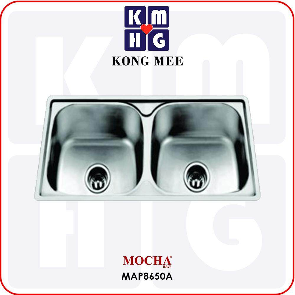 Mocha Italy - Top Mount Kitchen Sink (MAP8650A)  High Quality Premium Overmount Two Basin Home Restaurant Wash Dishes Luxury