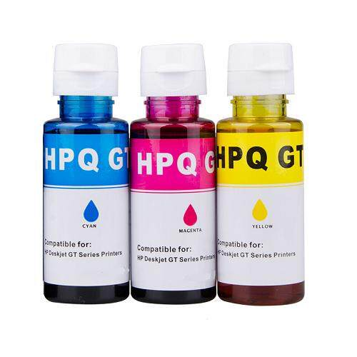 Universal GT52 GT Series Compatible 3 Multi Pack GT-52 Refill Ink (C/M/Y)