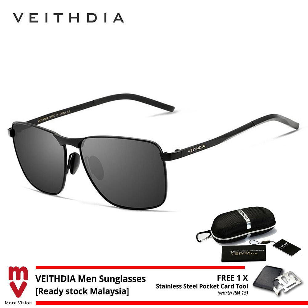 Ready Stock Original VEITHDIA Men Sunglasses Polarized UV400 for Travel MI5761