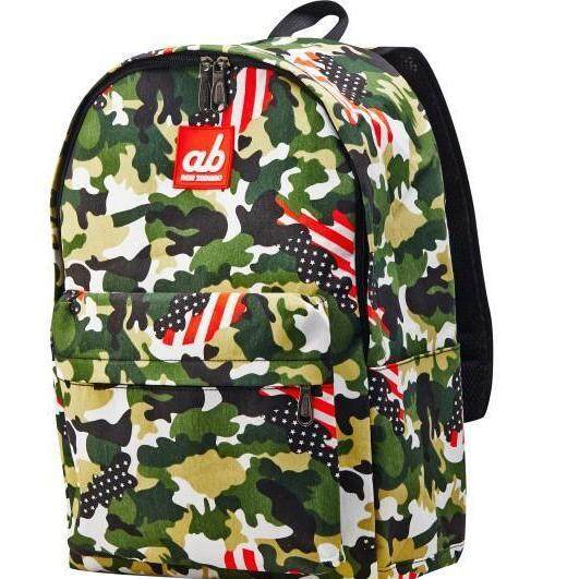 ab New Zealand Extra Spacious Kids School Canvas Backpack (US Camo)