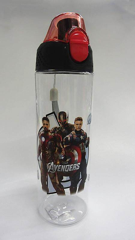 600ML Cartoon Water Bottle Drinking Bottle BPA Free Water Tumbler (BGJAYA)-The Avengers
