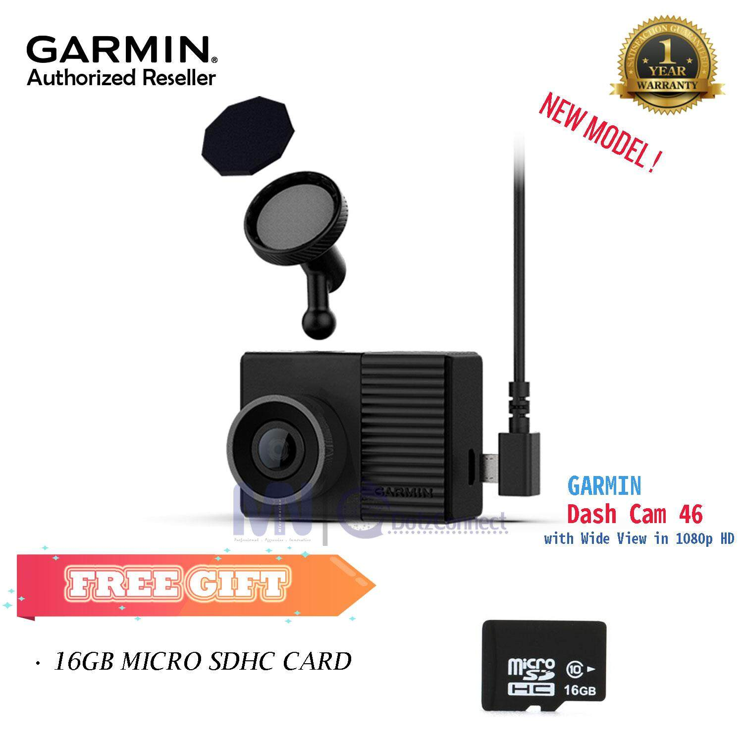 Garmin Dash Cam 46 - Compact, Discreet Dash Cam with GPS & Wide View in 1080p HD [NEW MODEL]