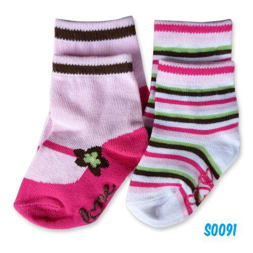 Bumble Bee Girl Socks Twin Pack (S0058L and S0077L) + FREE GIFT (HLM0008)