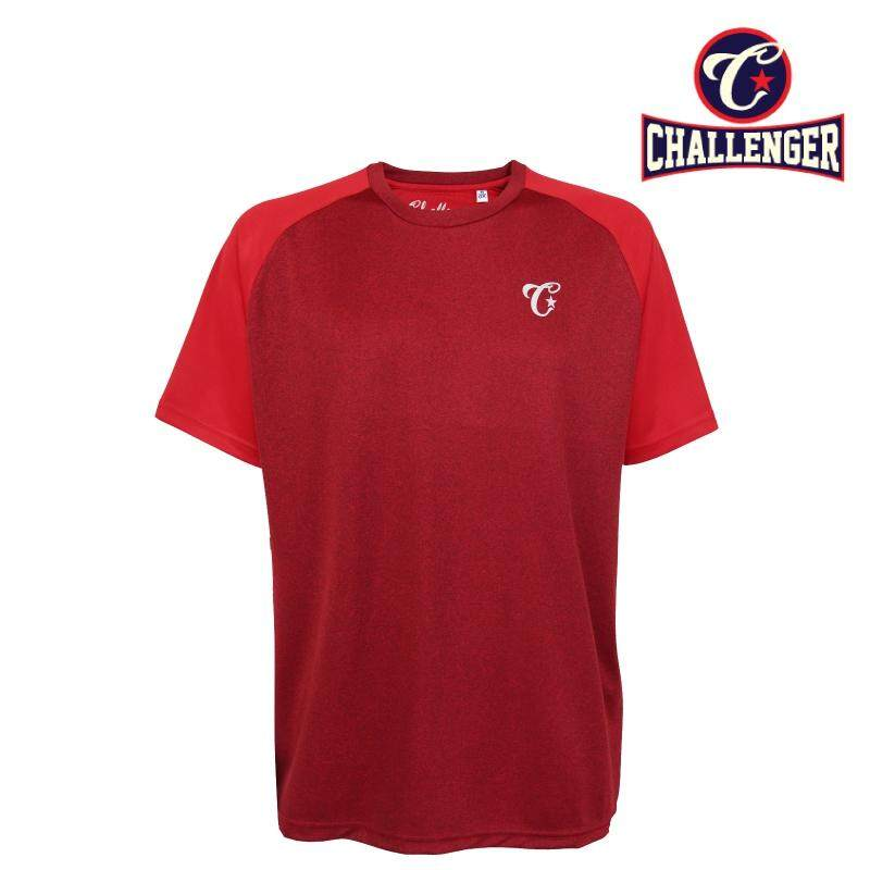 CHALLENGER BIG SIZE Raglan SS Jersey Tee CH1023 (Red)
