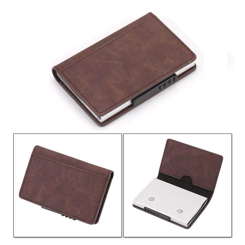 RFID Ridge US Popular Metal Money Clip Aluminium Wallet Card Holder Case Simple Eject Cards MI3573