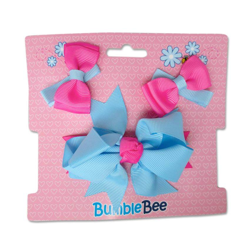 Bumble Bee Hair Clips Set (Blue)