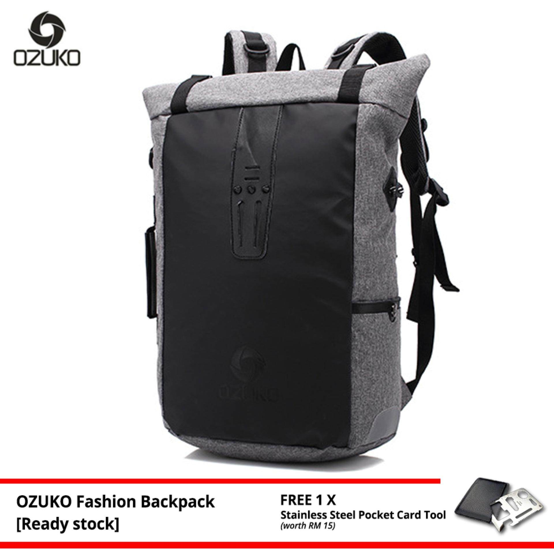 OZUKO Brand New Backpack Fashion Laptop Bag Casual Waterproof Travel Korean Style Hand Carry Men Women Bagpack -MI4462