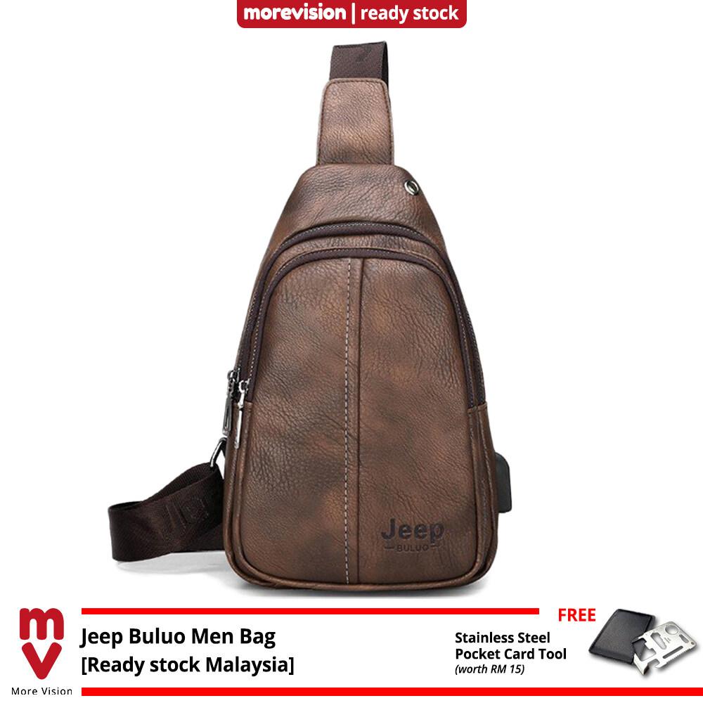 Jeep Buluo Sling Bag Chest Beg New Casual Crossbody Bag Shoulder Beg Waterproof for Men MI5892