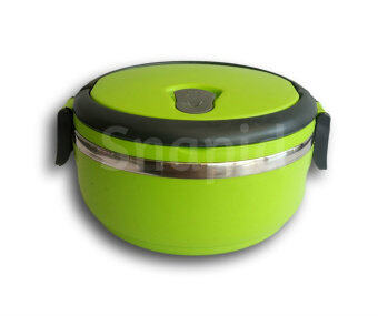 1 Tier Stainless Steel Thermal Insulation Lunch Box/Tiffin Carrier (Green)