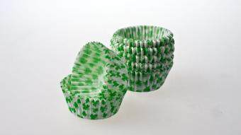 100 count - Greaseproof Shamrock Cupcake Liners/Baking Cups