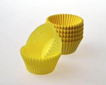 100 count - Greaseproof Yellow Cupcake Liners/Baking Cups
