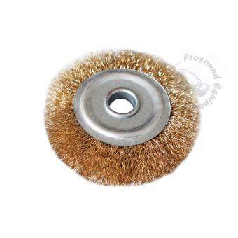 100MM BRASS WIRE T BRUSH POLISHING WHEELS WITH CENTER HOLE FORROTARY ANGLE GRINDER CLEANING TOOL