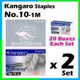 2 Set Stapler Bullet Kangaro Staple Staples No.10 / Kangaro NO.10-1m Size normal Stapler Bullet / Dawai Kokot / Ubat Stapler (20boxes Each Set) I JIMAT