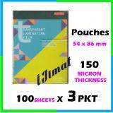 **3 packs** East-File Laminating Film Pouch IC / Sarung Laminate (54mm x 86mm) 150mic