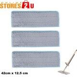 3pc [Stores2u] 42cm Replacement Microfiber Mop Head Refill Pad for 42cm Hands Free Wash Lazy Flat Floor Mop