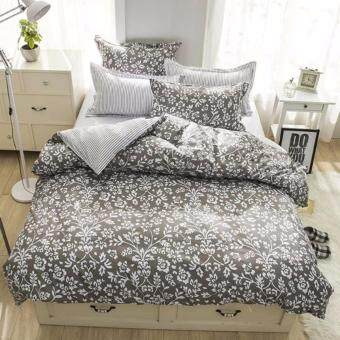 4 in 1 Beano Queen Fitted Bedding Set bed protector home Quilt Cover Polyester Sheet Pillowcase Bedsheet - Style C