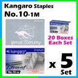 5 Set Stapler Bullet Kangaro Staple Staples No.10 / Kangaro NO.10-1m Size normal Stapler Bullet / Dawai Kokot / Ubat Stapler (20boxes Each Set) I JIMAT