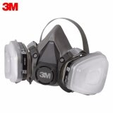 Authentic 3M 6200 Half Facepiece Respirator with 6001 Organic Vapor Cartridge + Filter + Filter Container