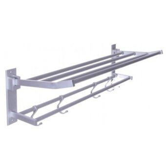 Bathroom 2 Tiers Towel Rack Towel Foldable Rack/Shelf
