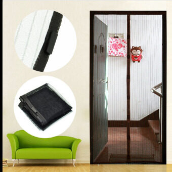 "Cocotina 83"" x 39"" Magnetic Mesh Insect Net Screen Anti-MosquitoBug Doors Hadware Curtain Home Decor"