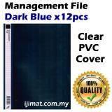 East-File 1807 PVC Management File A4 Good Quality (12pcs/pack) (Dark Blue)