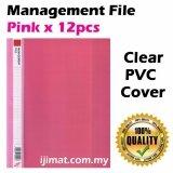 East-File 1807 PVC Management File A4 Good Quality 12pcs/pack (Pink) Colour