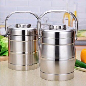 HIGH QUALITY Stainless Steel 2 Layers Insulated Food Container Tiffin Lunch Box Bento Box New 1.4L