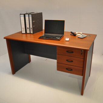 Infinite Writing Desk/Office Table/Study Table With Drawer 140cm(Rose)