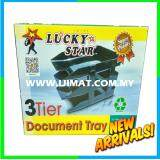 Lucky Star 3 Tier Document Tray / In Out Tray / Dulang Dokumen 3 Peringkat / 3 Layer Plastic Tray
