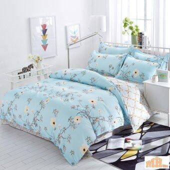 Maylee High Quality 4pcs White Flower Queen Bedding Set (FM-WF)