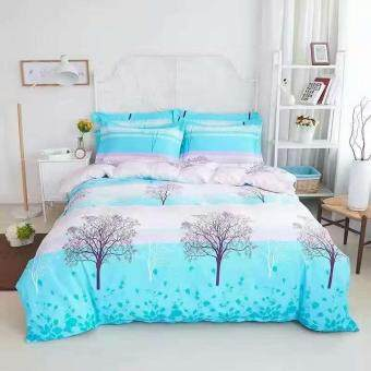 Maylee High Quality Cotton 3pcs Queen Fitted Bedding Set 450TC(Tree)