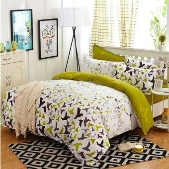 Maylee High Quality Fashion 4pcs Peaceful World Queen Fitted Bedding Set (FM-PFW)